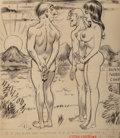 Mainstream Illustration, Bill Ward (American, 1919-1998). Did You Ever See Anything RiseSo Beautifully Doris? Sextra Laughs illustration. Ink an...
