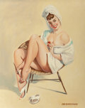 Mainstream Illustration, Don Ringelspaugh (American, 20th Century). Pinup Painting HerToes. Oil on canvas. 30 x 24 in.. Signed lower right. ...
