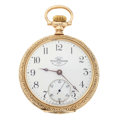 Timepieces:Pocket (post 1900), Rare Ball (Hamilton) 18 Size Open Face Pocket Watch. ...