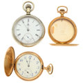 Timepieces:Pocket (post 1900), Waltham, Elgin Pocket Watches & Gold Filled Hunter's Case. ... (Total: 3 Items)