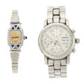 Timepieces:Wristwatch, Montblanc Chronograph & Lady's Vintage Bulova Wristwatches. ...(Total: 2 Items)