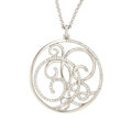 Estate Jewelry:Pendants and Lockets, Diamond, White Gold Pendant-Necklace. ... (Total: 2 Items)