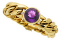 Estate Jewelry:Bracelets, Amethyst, Gold Bracelet, Paloma Picasso for Tiffany & Co.. ...