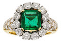 Estate Jewelry:Rings, Emerald, Diamond, Gold Ring, Van Cleef & Arpels. ...