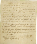 Autographs:Statesmen, Stephen F. Austin Signed General Order. Headquaters [sic] 27thOctober 1835. Stephen F. Austin, commander in chief of the T...