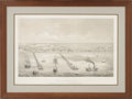 Antiques:Posters & Prints, Helmut Holtz - Birds-eye View of Indianola. Taken from the Bay on the Royal Yard, on board the Barque Texana, Sept. 1860...