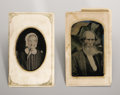 Photography:Tintypes, Thomas Pratt, Tintypes. Two Original Tintype Photographic Portraits(4 x 2.5 inches each), ca. 1870, of Captain Thomas Prat... (Total:2 Items)