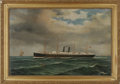 "Antiques:Textiles, Julius Stockfleth (German/Texas 1857-1935). A Painting, ""SS Orizaba"" oil on canvas. Signed, Inscribed: ""J. Stockfleth Gal..."