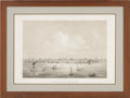 Antiques:Posters & Prints, Helmut Holtz - Birds-eye View of Matagorda Taken from the Bay onthe Royal Yard, on board the Barque Texana, Sept. 1860....