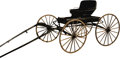 Transportation:Automotive, CARRIAGE, One-horse buggy, excellent condition approximately 70years old. Wayne Shirley, deceased, displayed the buggy outs...
