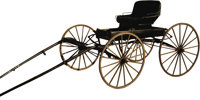 CARRIAGE, One-horse buggy, excellent condition approximately 70 years old. Wayne Shirley, deceased, displayed the buggy...