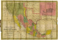 Miscellaneous:Maps, 1847 Map of Texas, Published 1847 by Augustus Mitchell; Map ofMexico, including Yucatan & Upper California. Map shows theb...