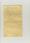 Political:Small Paper (pre-1896), Baylor Document, original superb early Texas legal petition dated 1845 and signed by Judge Robert Emmett Bledsoe Baylor Co...