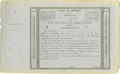 Political:Miscellaneous Political, Title Of Property Of The Building Lot In The City And Port Of Trespalacios. Courtest of J.P. Bryan,Houston The hig...