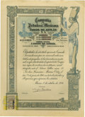 Transportation:Railroad, Compania Petrolera Mexicana Faros de Aztlan, Railroad StockCertificate.,Courtesy of J.P. Bryan, Houston. The highb...