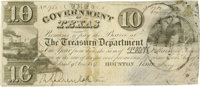 $10 Government of Texas Note. Courtesy of John Rowe, Dallas. The high bid placed by via mail, fax, the Internet or t