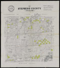 Miscellaneous:Maps, Texas Pacific Railway Company. Map of Stephens County. Texas.[N.p., 1870s]. Lithographed map with manuscript outlining in r...
