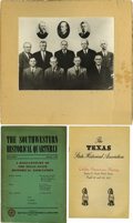 Photography:Official Photos, Texas State Historical Association, Golden Anniversary Program fromthe TSHA Annual Meeting in 1947; Photo of members of the... (Total:3 Items)