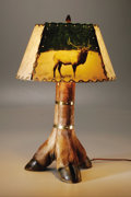 Antiques:Folk Art, Legendary Texas Photographer Wilfred D. Smithers Designed Lampshadeand Lamp. Wilfred D. Smithers was certainly Texas' versi... (Total:2 Items)