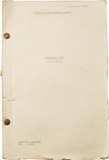 Entertainment Collectibles:Movie, Sam Houston. Final revised shooting script for production number734 (Sam Houston) Jan. 3, 1939, Associate Producer Sol C. S...