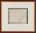 Miscellaneous:Maps, Thomas G. Bradford, Texas, 1835. Frequently called the firstseparate maps of Texas appearing in an atlas, the map shows the...
