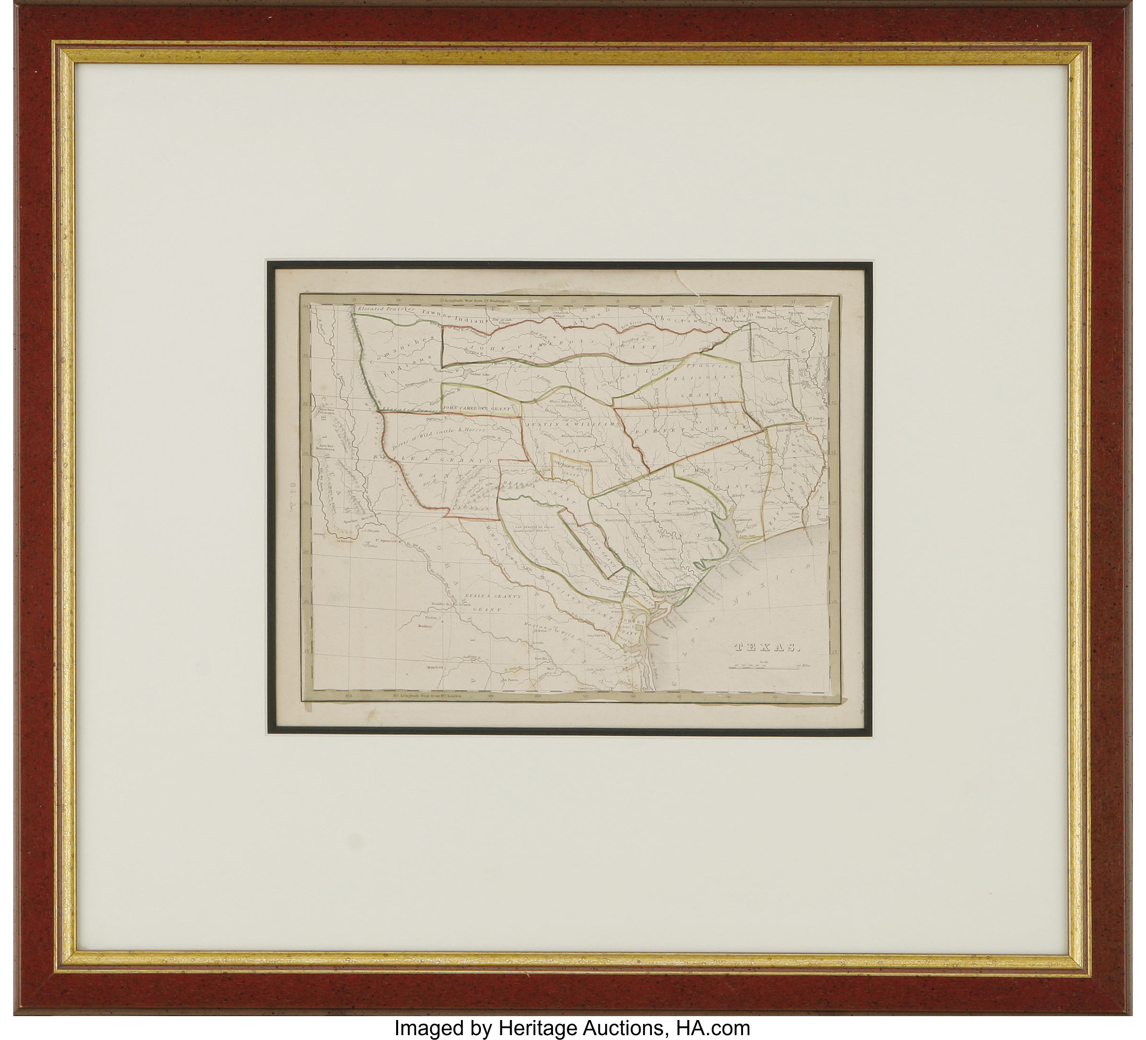 Map Of Texas 1835.Thomas G Bradford Texas 1835 Frequently Called The First Lot