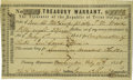 Political:Small Paper (pre-1896), Treasury Warrant, No. 2403, $58.33. Act of July 1st 1845.Courtesy of Simpson Galleries, Houston. Consigned Lot.The...