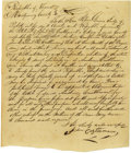 Political:Miscellaneous Political, John Castleman Manuscript Petition Signed to the Republic of Texas,requesting that he be appointed Administrator of the est...