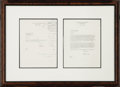 Autographs:U.S. Presidents, Oilman George H. W. Bush- Two 1963 Typed Letters Signed and attractively double matted and framed to an overall size of 26.5... (Total: 2 Items)