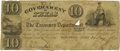 Political:Small Paper (pre-1896), Mirabeau B. Lamar Signed $10 Engraved Republic of Texas Note No.2304, as President of the Republic of Texas, January 24, 18...