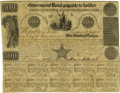 Political:Miscellaneous Political, David G. Burnet Document Signed Engraved Republic of Texas bondcompleted in manuscript, signed by Burnet on January 1, 1841...