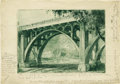 Antiques:Posters & Prints, Bernhardt Wall. Wall's trial proof - Two Bridges Lots of pencil annotations by Wall in the margins. Courtesy of Denwoo...