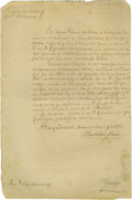 Political:Miscellaneous Political, Bartolome Grimes Document Signed, Matamorous, 4 June 1860.(Matamorous is across the Rio Grande from Brownsville). Jesse Gr...