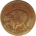 (1694) TOKEN London Elephant Token, Thick Planchet AU58 PCGS. Breen-186. This halfpenny is struck on a thick flan and is...