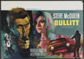 "Movie Posters:Action, Bullitt (Warner Brothers, 1969). Belgian (14.2"" X 20.5""). Action...."