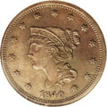 Proof Large Cents: , 1840 1C Small Over Large 18 PR63 Brown NGC. N-2, R.6 as a proof.The most recent census information for this variety includ...