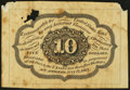 Fractional Currency:First Issue, Fr. 1243SP 10¢ First Issue Medium Margin Back About New.. ...