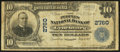 National Bank Notes:Virginia, Lynchburg, VA - $10 1902 Plain Back Fr. 624 The Peoples NB Ch. #2760. ...
