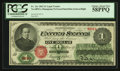 Fr. 16c $1 1862 Legal Tender PCGS Choice About New 58PPQ
