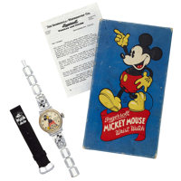 Ingersoll Mickey Mouse, Original Box & Papers, Circa 1939