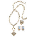 Estate Jewelry:Suites, Labradorite, Freshwater Cultured Pearl, Sterling Silver Jewelry Suite, Michael Dawkins. ... (Total: 3 Items)