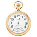 Timepieces:Pocket (post 1900), Illinois 19 Jewel Gold Filled Pocket Watch. ...