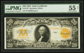 Large Size:Gold Certificates, Fr. 1187 $20 1922 Gold Certificate PMG About Uncirculated 55 Net.. ...