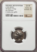 Ancients:Greek, Ancients: LUCANIA. Metapontum. Ca. 330-290 BC. AR stater (7.92gm)....