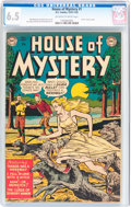 Golden Age (1938-1955):Horror, House of Mystery #1 (DC, 1952) CGC FN+ 6.5 Off-white to whitepages....
