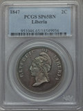 Liberia, Liberia: Republic copper Pattern 2 Cents 1847 SP65 Brown PCGS,...