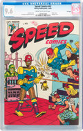 Golden Age (1938-1955):Superhero, Speed Comics #43 File Copy (Harvey, 1946) CGC NM+ 9.6 Cream to off-white pages....