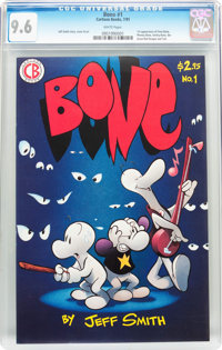 Bone #1 (Cartoon Books, 1991) CGC NM+ 9.6 White pages