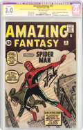 Amazing Fantasy #15 Signature Series (Marvel, 1962) CGC Apparent GD/VG 3.0 Extensive (P) Off-white pages