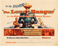 "Movie Posters:Western, The Lone Ranger (Warner Brothers, 1956). Half Sheet (22"" X 28"")....."